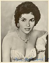 ACTRESSES: Selection of signed 8 x 10 photographs by various film actresses including Gina Lollobrigida, Sophia Loren, S