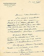 PERRIN JEAN BAPTISTE: (1870-1942) French Physicist, Nobel Prize winner for Physics, 1926. Perrin verified Albert Einstei