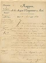 NAPOLEON I: (1769-1821) Emperor of France 1804-14, 1815. D.S., Nap, one page, folio, Paris, 10th April 1811. in French.