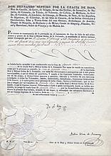FERDINAND VII: (1784-1833) King of Spain 1808 & 1813-33. D.S., Yo el Rey, one page, folio, San Lorenzo de El Escorial, 4