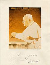 JOHN XXIII: (1881-1963) Pope of the Roman Catholic Church 1958-63. Vintage signed colour 10.5 x 13.5 photograph, the ima