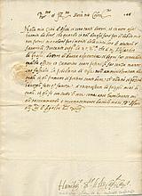 ALVAREZ DE TOLEDO JUAN: (1488-1557) Spanish Cardinal and Roman Inquisitor. Rare L.S., Humiliss[im]o S[ervi]tor El As Car