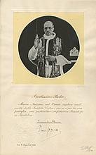 PIUS XII: (1876-1958) Pope of the Roman Catholic Church 1939-58. Vintage signed 10 x 16 photograph, the circular image d