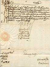 PHILIP III: (1578-1621) King of Spain 1598-1621. D.S., Yo El Rey, one page, 4to, Valladolid, 23rd September 1603, to Her