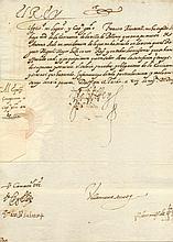 PHILIP III: (1578-1621) King of Spain 1598-1621. D.S., Yo El Rey, one page, 4to, El Pardo, Madrid, 17th November 1603, t