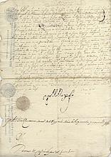 [PHILIP IV]: (1605-1665) King of Spain 1621-65 and King Philip III of Portugal 1621-40. D.S., Yo el Rey, one page, doubl