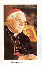 BENEDICT XVI: (1927-  ) Pope of the Roman Catholic Church 2005-13. A printed 8vo pamphlet of sixteen pages featuring var