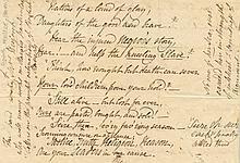 HEYRICK ELIZABETH: (1769-1831) British Philanthropist and Campaigner against the Slave Trade. Portion of a Manuscript Ve