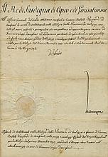 VICTOR AMADEUS III: (1726-1796) King of Sardinia 1773-96. D.S., V. Amedeo, one page, folio, Torino, 14th March 1793, in
