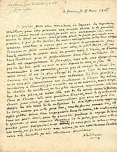 NEEDHAM JOHN: (1713-1781) English Biologist and Roman Catholic Priest. A fine A.L.S, Needham, one page, 4to, Geneva, 5th