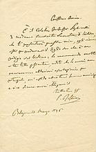 ROSSINI GIOACHINO: (1792-1868) Italian Composer. A good A.L.S., G. Rossini, one page, 8vo, Bologna, 15th March 1846, to