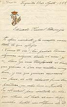 ISABELLA II: (1830-1904) Queen of Spain 1833-68. Fine L.S., Isabel de Bourbon, four pages, 8vo, Lequeitio, 13th August 1