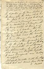 Napoleon's penultimate battle    ARCIS-SUR-AUBE BATTLE OF: A good autograph statement signed, Ld. Burghersh, in