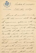 RICCI-CURBASTRO GREGORIO: (1853-1925) Italian Mathematician, famous as the Inventor of tensor calculus. A.L.S., G. Ricci