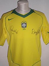 BRAZILIAN FOOTBALL: A yellow souvenir short sleeve