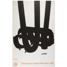 MUNICH OLYMPIC GAMES 1972 SOULAGE ORIGINAL OVER SIZE