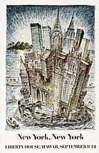 EDWARD SOREL New York Department Store Poster 1981 RARE