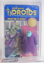 STAR WARS- SISE FROMM, DROID WITH COIN, 1985, AFA 60