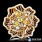 EGL CERTIFIED 18K MULTI-TONE GOLD 2.29CT DIAMOND RING