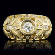 14K YELLOW GOLD 1.29CT DIAMOND RING