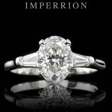 PLATINUM 1.46CT DIAMOND RING