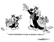 Animation art: Sylvester and Son