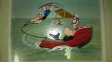 ANIMATION ART: Popeye cel