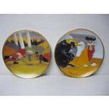 ANIMATION ART: Lot of 2, Chuck Jones Directed Collector plates.