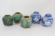 5pc Chinese vintage porcelains
