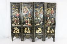 Chinese 4-panel table top screen