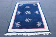 A fine Chinese blue background Nichols rug