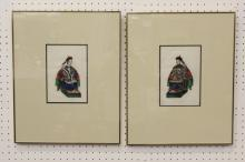 2 Chinese antique watercolor