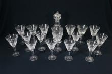 Waterford crystal decanter and goblets