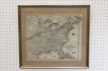 An important US map dated 1862