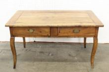 A fine French 18th century fruit wood desk