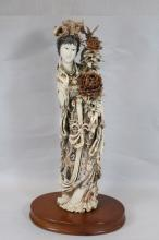 antique Chinese ivory carved Guanyin
