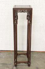 Chinese 19th century rosewood pedestal table