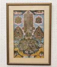 Tibetan antique silk thangka