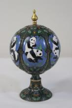 Chinese cloisonne stem covered cup