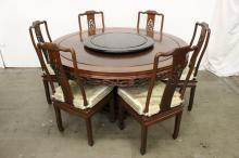 7pc Chinese rosewood dining room set