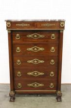 vintage marble top mahogany chest