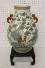 A beautiful famille rose porcelain large jar