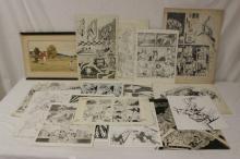 Lot of original carton drawings