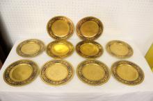 Set of 10 beautiful Lenox heavy gilt porcelain plates