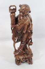 Chinese rosewood carved figure