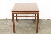 A fine Chinese rosewood square side table