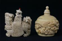 2 Chinese ivory snuff bottles