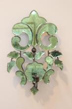 A fine Venetian green glass wall sconce