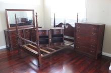 5pc mahogany bedroom set by Bassett
