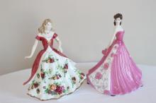 Royal Albert and Coalport figurines